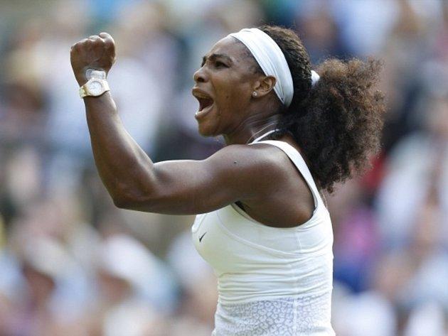 Serena Williamsová na Wimbledonu.