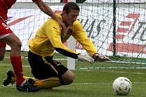 Gólman české fotbalové reprezentace Tomáš Grigar