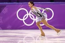 Alina Zagitovová na olympijských hrách v Pchjongčchangu.