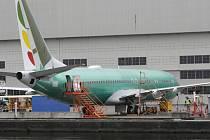 Letoun Boeing 737 Max 8 na letišti v americkém Rentonu