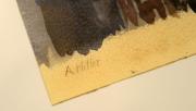 Jedna z Hitlerových maleb v únorové aukci.