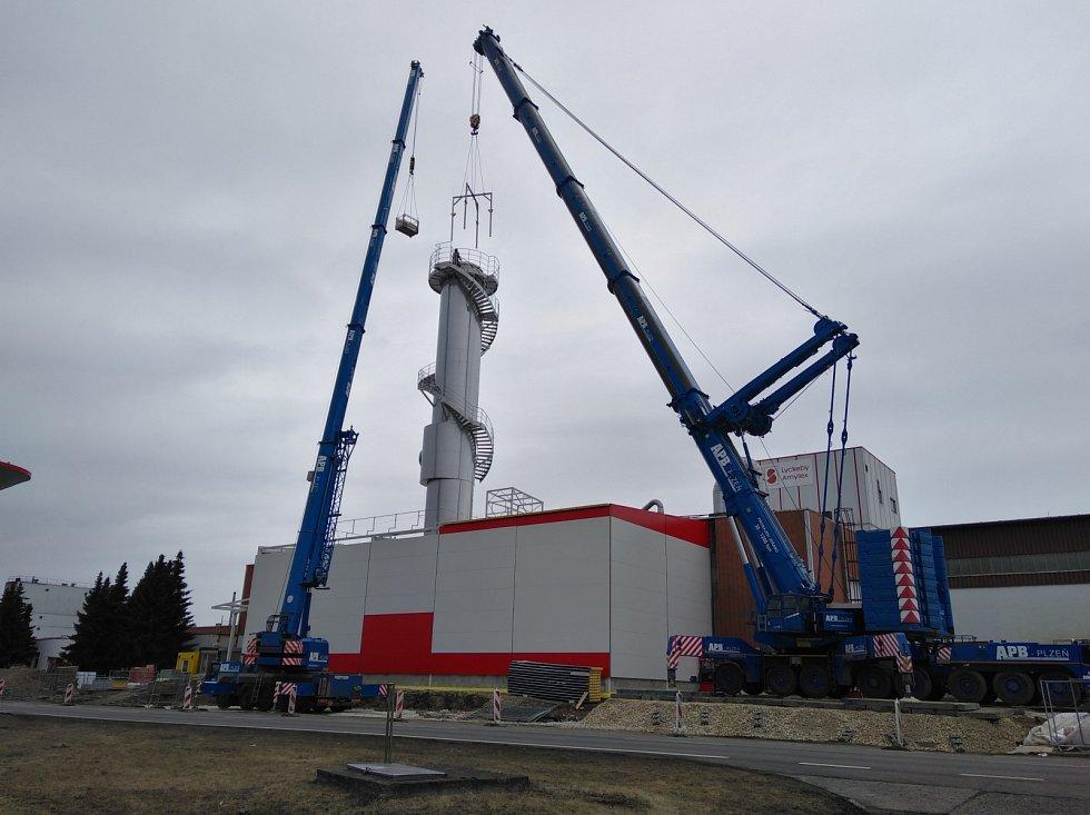 V roce 2018 zde instalovali novou odparku.  Práce to nebyla zrovna jednoduchá.  Jen tento díl měřil 22 metrů a vážil 57 tun