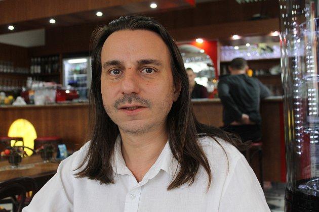 Animátor Cyril Podolský. Foto zlistopadu 2017.
