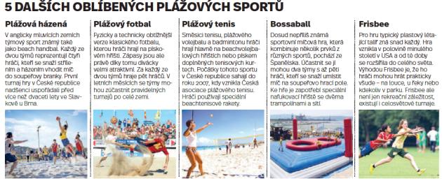 Oblíbené plážové sporty