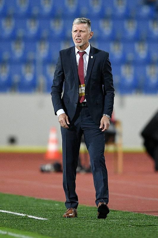 Utkání skupiny E kvalifikace mistrovství světa ve fotbale: Česko - Bělorusko, 2. září 2021 V Ostravě. trenér Česka Jaroslav Šilhavý.