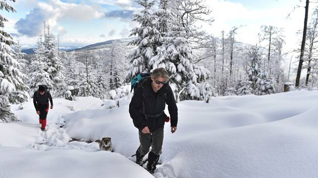 Zima v Krušných horách. Ilustrační snímek