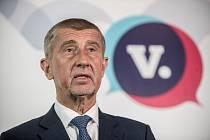 Volební sněm hnutí ANO, 17. února v Praze. Andrej Babiš.