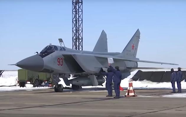 Ruský letoun nesoucí raketu Kanzhal