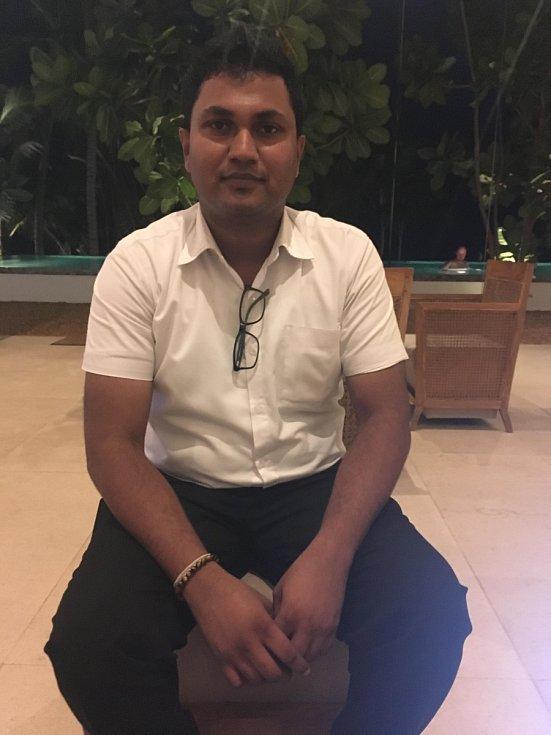 Manažer hotelu Riff Sanuka Thilakarathne