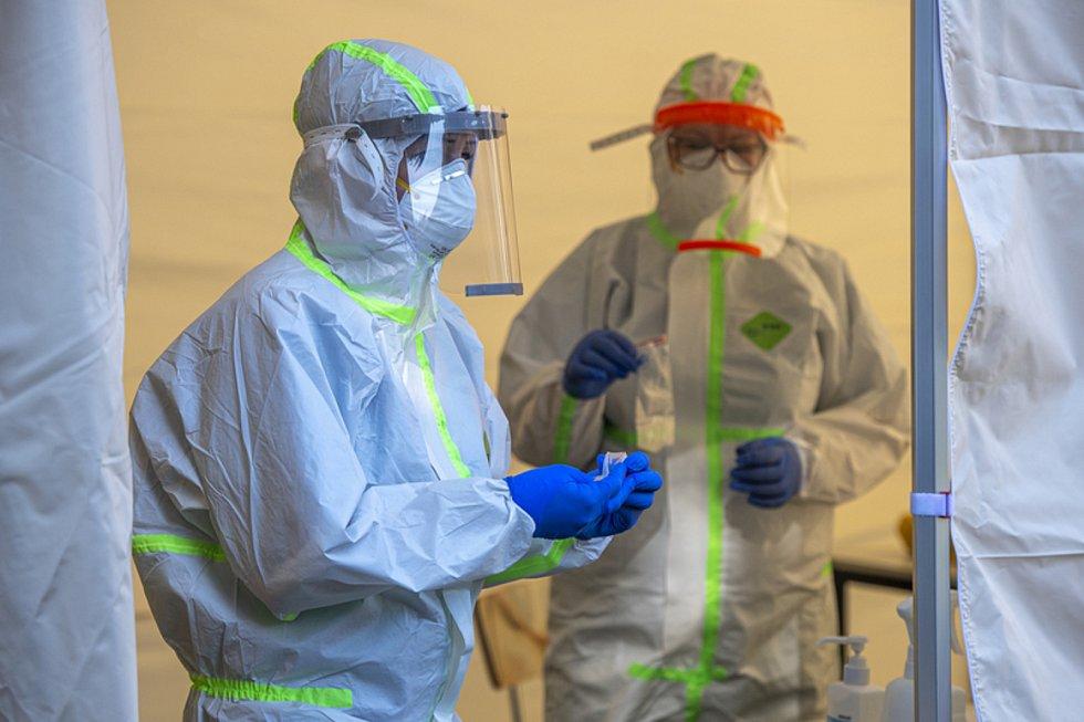 Odběrové místo na testování nákazy koronavirem. Ilustrační snímek