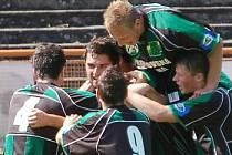Fotbalisté Sokolova si proti sparťanské rezervě užívali pohodové výhry.