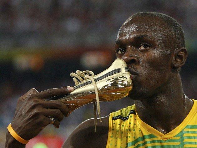 Zlaté tretry zlatého Usaina Bolta.