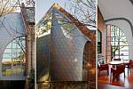 Moderní přístavba ke kostelu