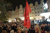 Demonstrace proti násilí a nenávisti v Gdaňsku