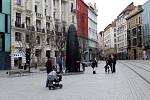 Náměstí Svobody v centru Brna, 13. března 2021.