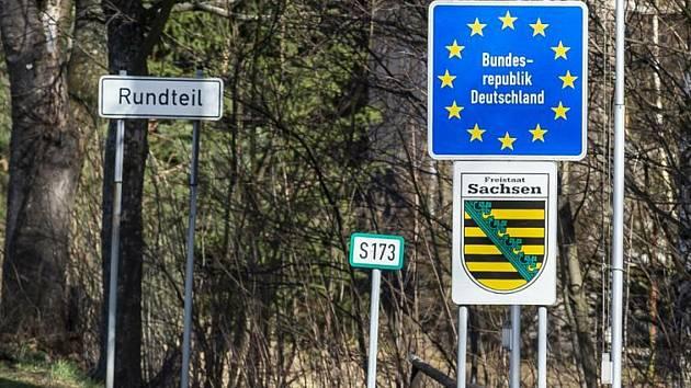 Česko-německý hraniční přechod Petrovice/Bahratal na Ústecku