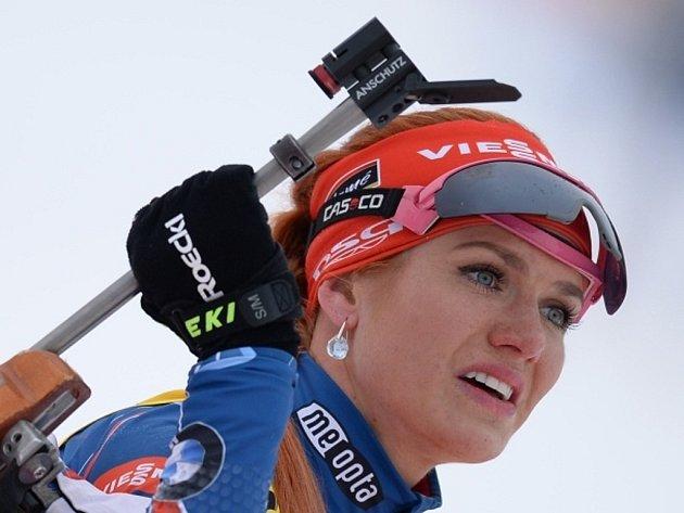 Gabriela Soukalová na mistrovství světa.