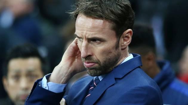 Trenér Gareth Southgate.