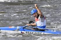Mistrovství Evropy ve vodním slalomu, 19. září 2020 v Praze, K1 muži - finále. Vítězný Jiří Prskavec z ČR