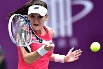 Agnieszka Radwaňská na turnaji v Tchien-ťin.