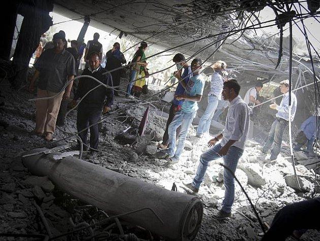 Po bombardování v Tripolisu.