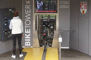 Tisící cyklista, který si uložil své kolo do cyklověže od otevření v červenci tohoto roku
