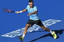 Roger Federer při tréninku