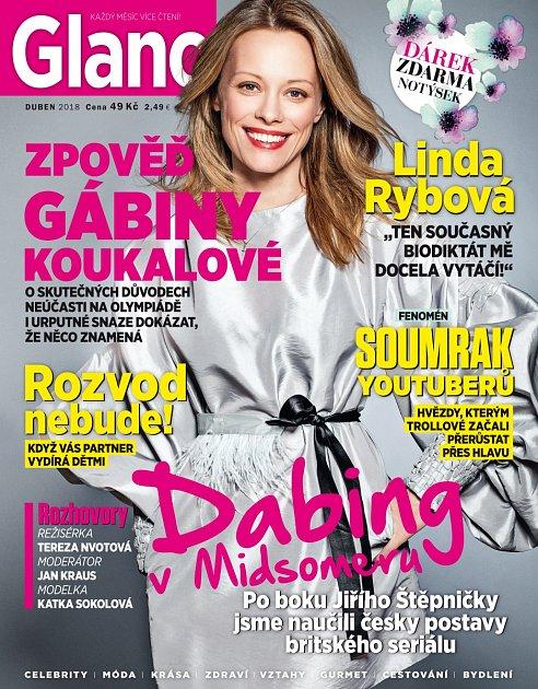 Dubnové vydání časopisu Glanc.