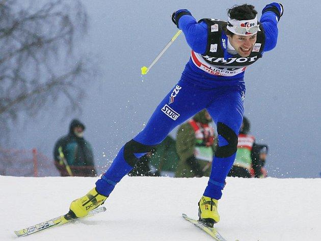 Dušan Kožíšek ve sprintu Světového poháru v Liberci.