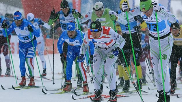 Běh na lyžích.