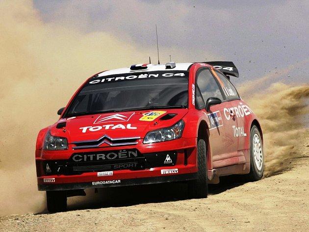 Sébastien Loeb na trati Mexické rallye.