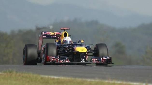 Sebastian Vettel na tréninku v Koreji.