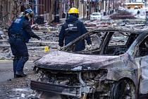 Masivní exploze obytného vozu v centru amerického Nashvillu