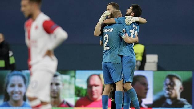 Slavia padla na hřišti Zenitu Petrohrad 0:1.