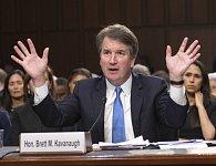 Soudce Brett Kavanaugh na slyšení před senátním justičním výborem