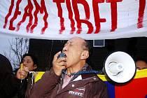 Tibeťané protestovali po celém světě.