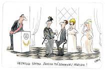 Zastavuju svatbu. Ženich má kradenej vercajk!