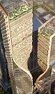 Futuristicky vyhlížející mrakodrap Green Spine, jenž bude novou dominantou australského Melbourne