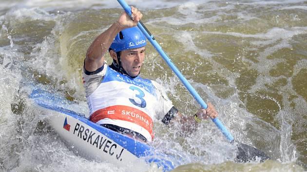 Finálové závody SP ve vodním slalomu, 6. září 2019 v Praze-Troji. Kvalifikace kajakářů, Jiří Prskavec z České republiky