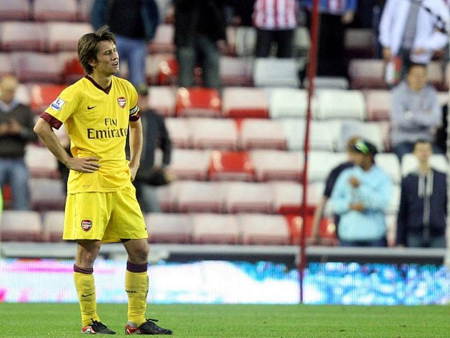 Záložník české reprezentace a Arsenalu Tomáš Rosický.