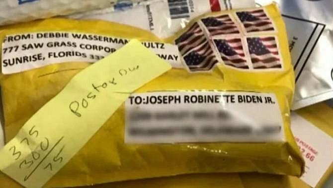 Podezřelý balíček zaslaný bývalému viceprezidentovi Joe Bidenovi
