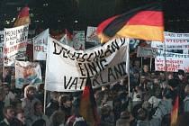 Demonstrace v Lipsku. Ilustrační snímek