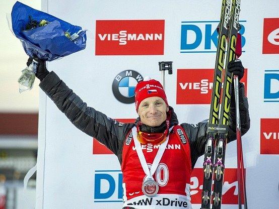 Ondřej Moravec byl ve sprintu v Östersundu druhý