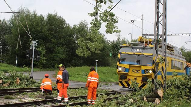Vítr na železnici strhl strom - Ilustrační foto
