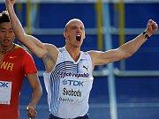 Překážkář Petr Svoboda v úspěšném semifinále na MS v Berlíně.