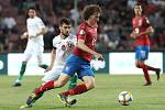 Kvalifikační zápas ME 2020 ve fotbale mezi Českem a Bulharskem na Letné. Vpředu Alex Král.