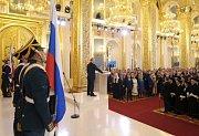 Vladimir Putin při svém inauguračním projevu.