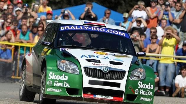 Jan Kopecký a Petr Starý na Barum Czech Rally Zlín.