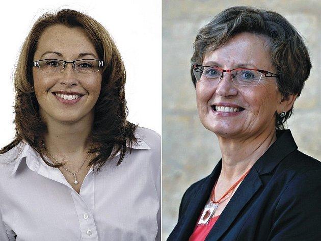 Senátorkou za Prahu 10 bude Ivana Cabrnochová ze Strany zelených (vlevo), která těsně porazila lékařku Janu Duškovou (vpravo) z hnutí ANO.