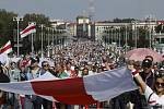 Demonstrace proti prezidentovi Alexandru Lukašenkovi v Minsku, 30. srpna 2020